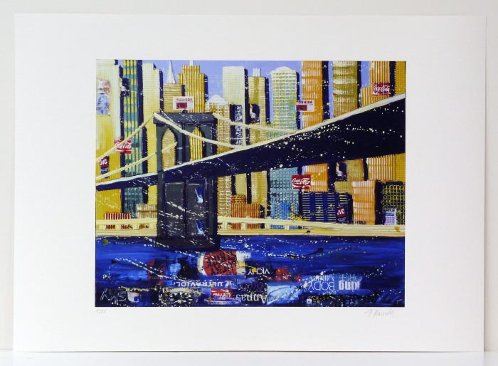 Franz RAUSCHER New York Brooklyn Bridge II - GicléeDruck