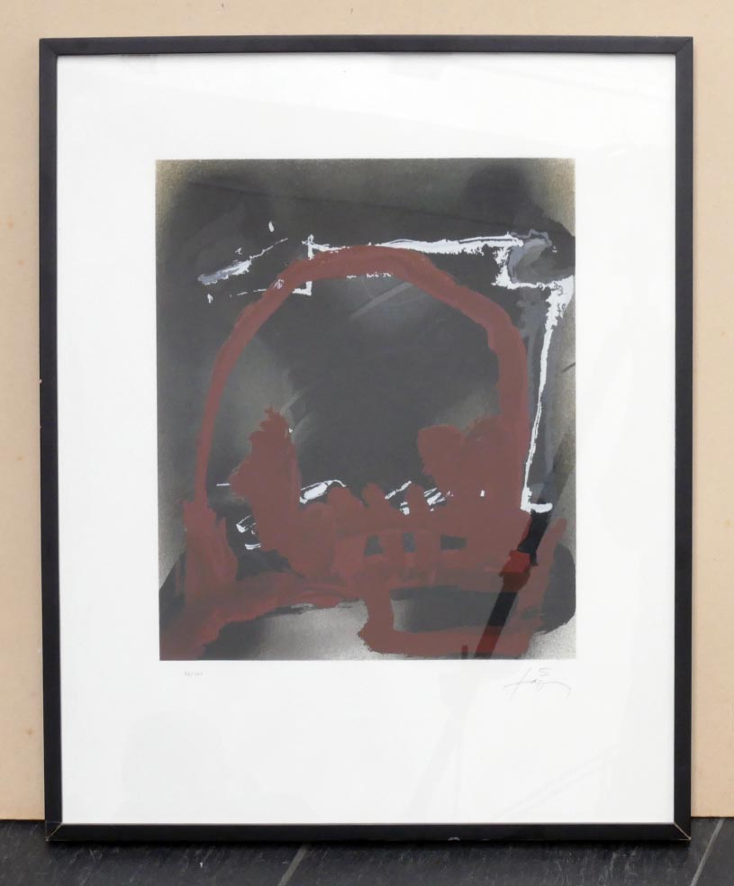 TAPIES ohne Titel - Lithographie in Farbe